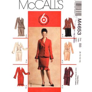 McCalls 4653 womens suit pattern