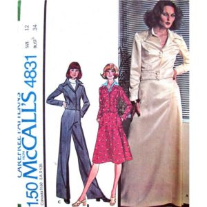 McCalls 4831 jacket skirt pants pattern