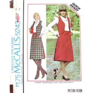 McCalls 5243 vest and skirt pattern