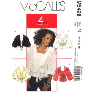 McCalls 5428 shrug and tank top pattern