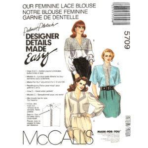 McCalls 5709 blouse sewing pattern