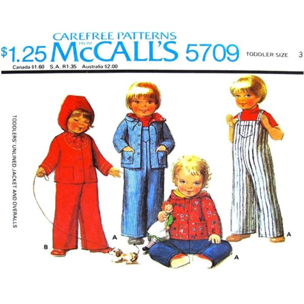 McCalls 5709 toddler sewing pattern