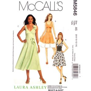 McCalls 5846 fit and flare dress pattern