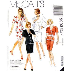 McCalls 5903 wrap top and skirt pattern