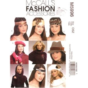 McCalls 5996 hat accessory pattern