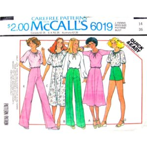 McCalls 6019 womens vintage pattern