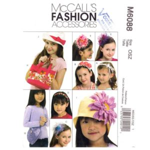 McCalls 6088 girls hat and bag pattern
