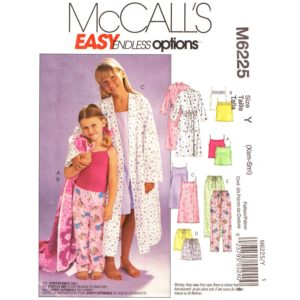 McCalls 6225 girls pajama pattern