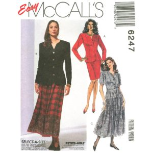 McCalls 6247 jacket and skirt suit pattern