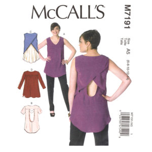 McCalls 7191 top sewing pattern