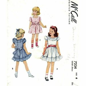 McCalls 7234 girls dress pattern