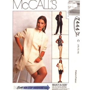 McCalls 7444 womens sewing pattern