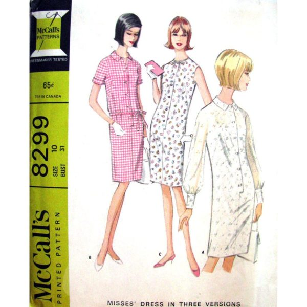 McCalls 8299 womens dress pattern