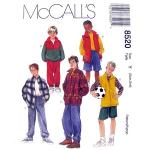McCalls 8520 boys sewing pattern