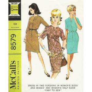 McCalls 8579 dress pattern