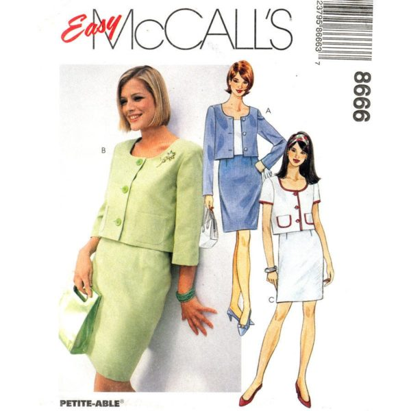 McCalls 8666 suit sewing pattern