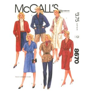 McCalls 8670 womens sewing pattern