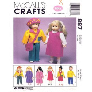 McCalls 9067 doll clothes pattern