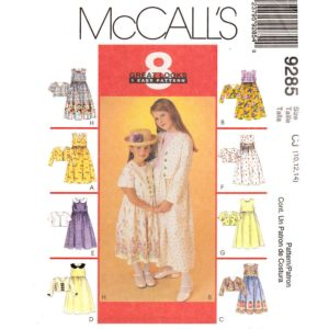 McCalls 9285 girls dress pattern