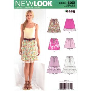 New Look 6031 skirt pattern