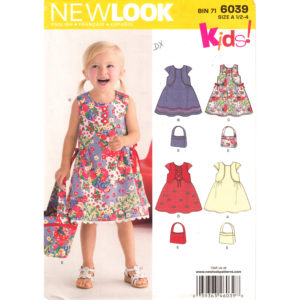 New Look 6039 girls dress pattern