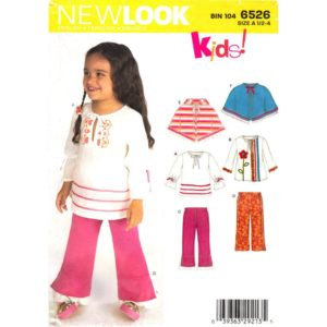 New Look 6526 girls sewing pattern