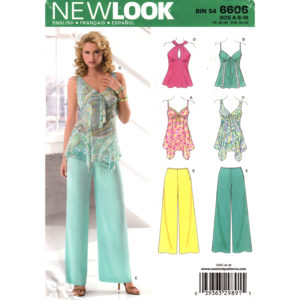 New Look 6606 top and pants pattern