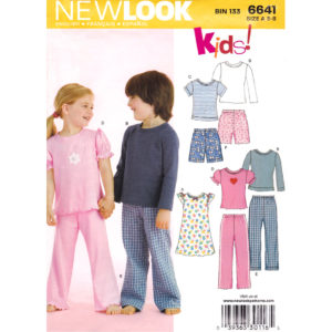 New Look 6641 kids pajama pattern
