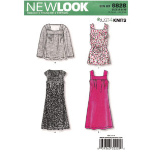 New Look 6828 dress or top pattern