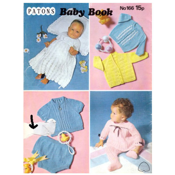Patons 166 Baby Book back cover