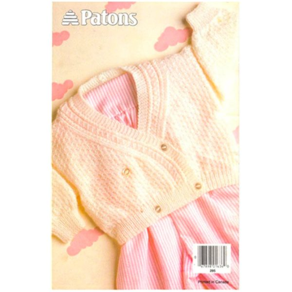 Patons 612 Baby book back cover