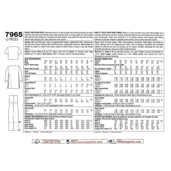 S7965 womens sewing pattern