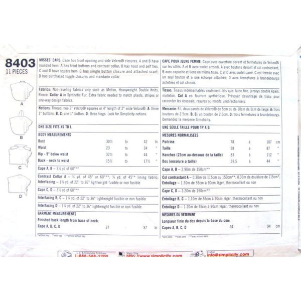S8403 womens sewing pattern