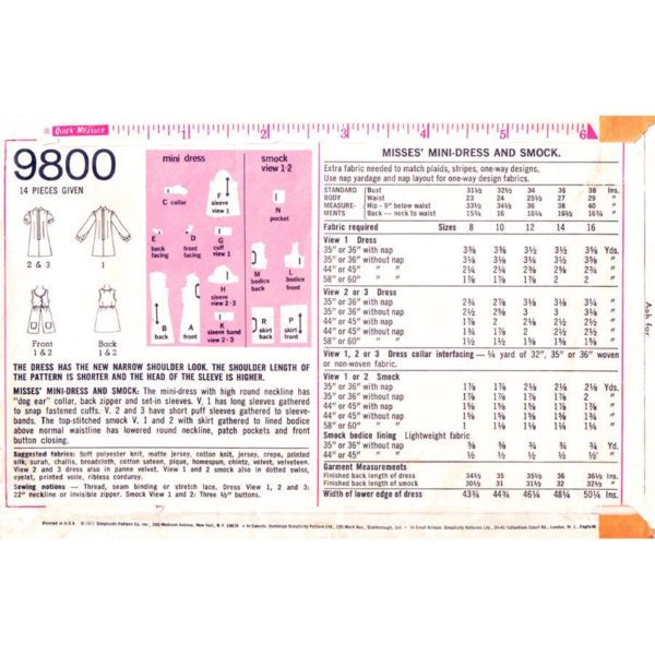 S9800 womens vintage pattern
