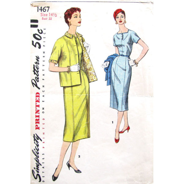 Simplicity 1467 sewing pattern