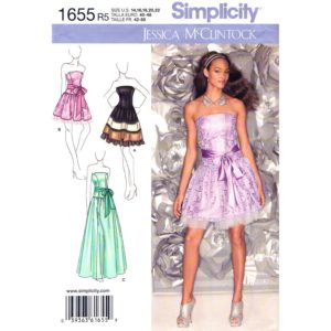 Simplicity 1655 fit and flare dress pattern