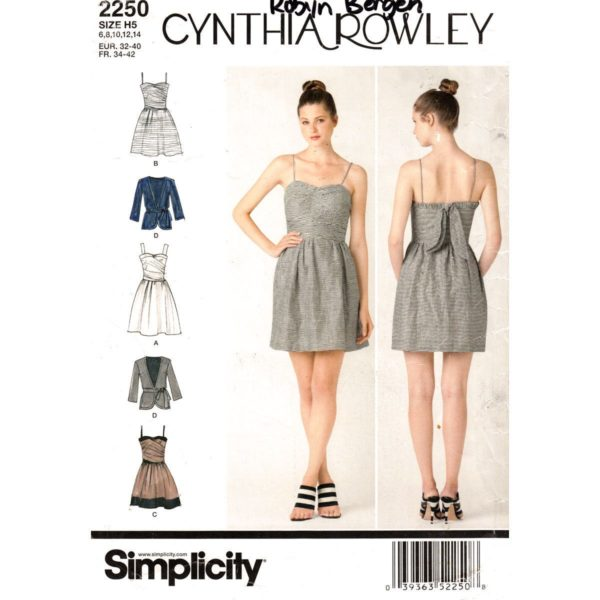 Simplicity 2250 dress and jacket pattern