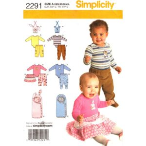 Simplicity 2291 baby sewing pattern