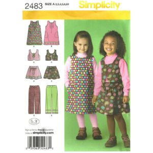 Simplicity 2483 girls sewing pattern