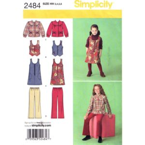 Simplicity 2484 girls sewing pattern