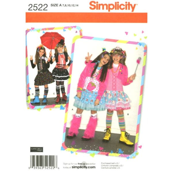 Simplicity 2522 girls sewing pattern