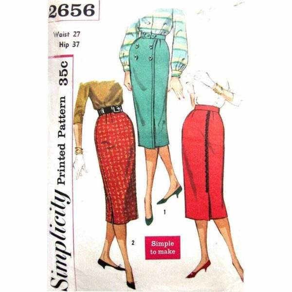 Simplicity 2656 vintage skirt