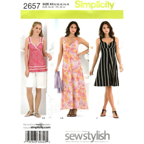 Simplicity 2657 womens sewing pattern