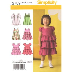 Simplicity 2709 girls dress pattern