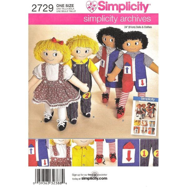 Simplicity 2729 learning doll pattern
