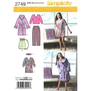 Simplicity 2749 girls sewing pattern