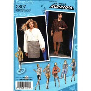 Simplicity 2807 blouse and skirt pattern