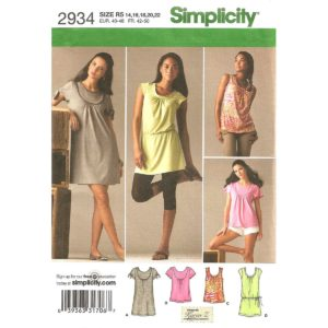 Simplicity 2934 dress or top pattern