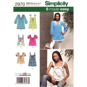 Simplicity 2970 top sewing pattern