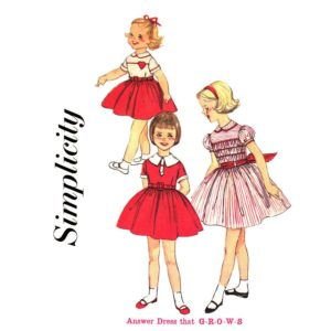 Simplicity 3131 girls sewing pattern